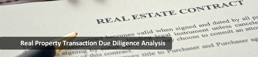 Real Property Transaction Due Diligence Analysis