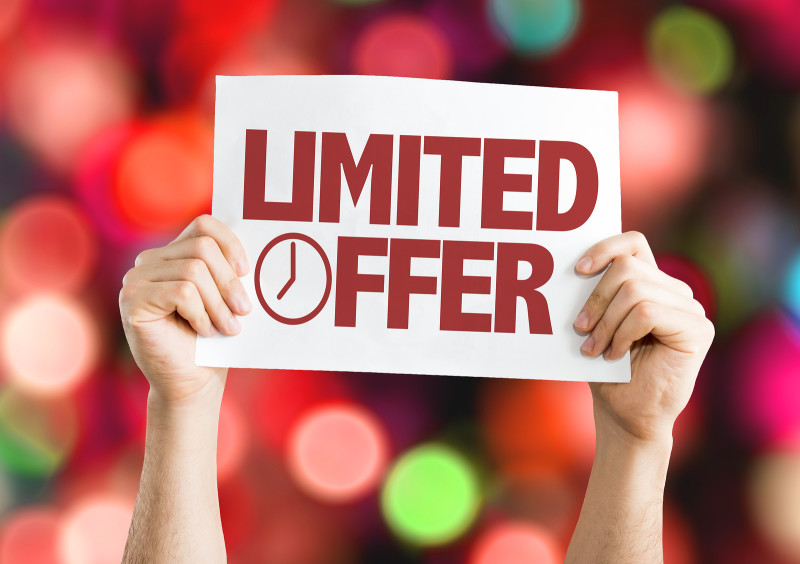 Limited Offer card with bokeh background